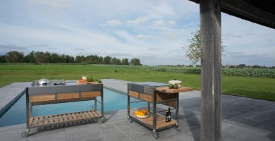 Nápady pro Vnější Použití: Zahradní Kuchyně Viadurini in the Garden
