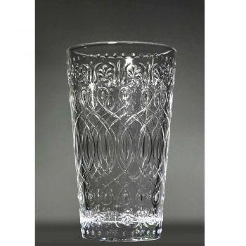 12 zdobených průhledných skleněných nápojových sklenic na nápoje - maroccobic