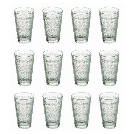 12 nápojových sklenic v průhledném skleněném nápoji - maroccobic