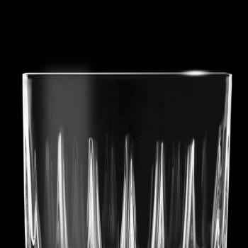 12 likérových sklenic v ekologickém křišťálu s dekoracemi lineárního designu - Senzatempo