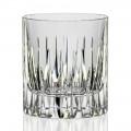 12 sklenic s nízkou whisky nebo sklenice vody v ekologickém křišťálu - Voglia