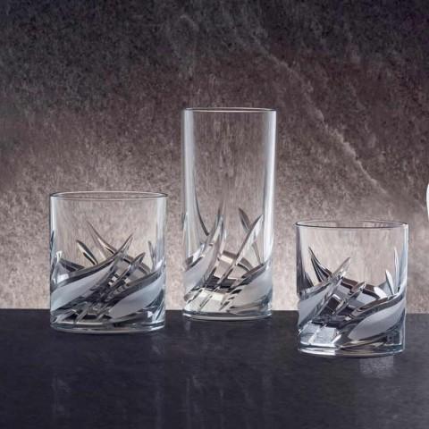 12 dvojitých staromódních sklenic na whisky s nízkou křišťálovou whisky - adventní