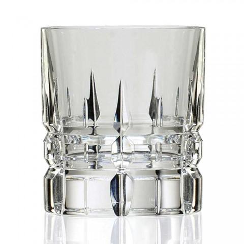 12 dvojitých staromódních sklenic na whisky Tumbler Basso v křišťálu - Fiucco