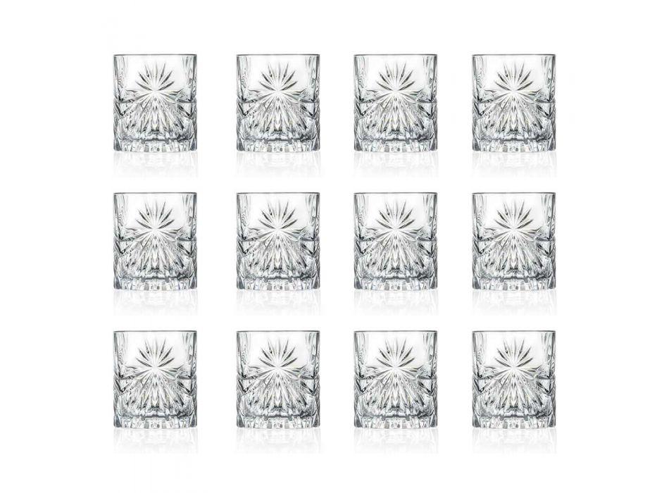 12 dvojitých staromódních sklenic v designu Eco Crystal - Daniele