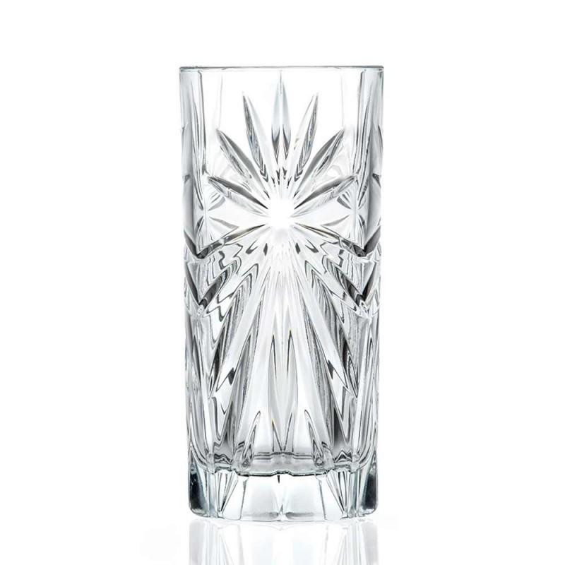 12 vysokých sklenic na koktejl Highball Tumbler v designu Eco Crystal - Daniele