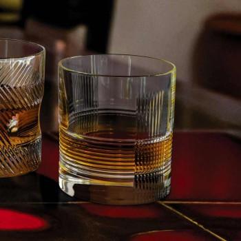 12 sklenic na vodu nebo whisky Vintage Design v zdobeném křišťálu - hmatové