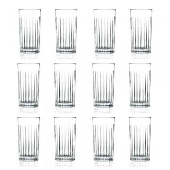 12 Tumbler vysokých highballových brýlí v dekorovaném Eco Crystal - Senzatempo