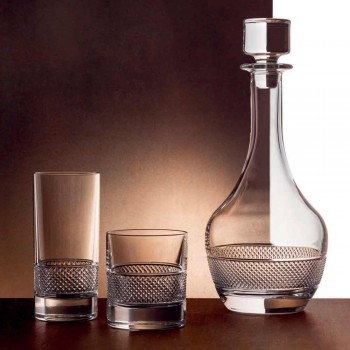 12 vysokých sklenic sklenice v luxusním zdobeném ekologickém křišťálu - Milito