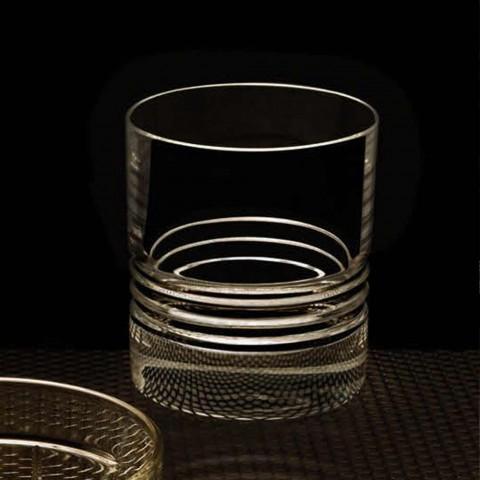 12 sklenic dvojité staromódní křišťálové whisky - arytmie