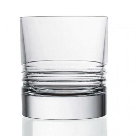 12 sklenic dvojitých staromódních křišťálových whisky - arytmie