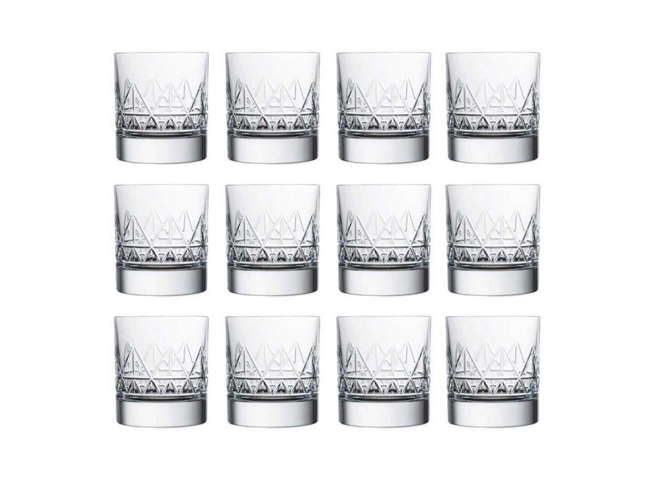 12 skleněná whisky nebo voda Luxusní moderní design v křišťálu - arytmie