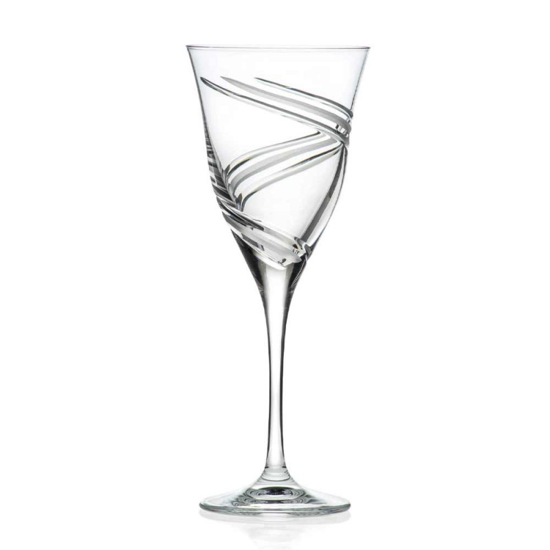 12 sklenic na červené víno v ekologickém křišťálu bez olova - cyklon