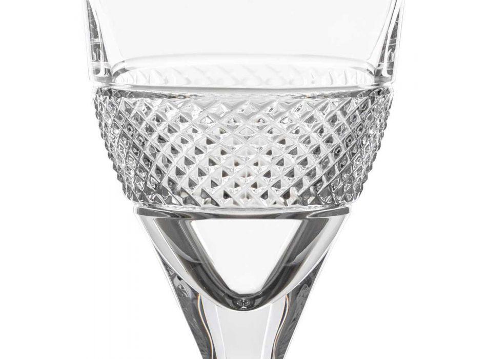 12 sklenic na červené víno v Eco Crystal Elegantní zdobený design - Milito