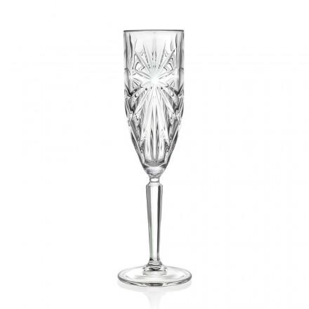 Sklenice na 12 flétny Sklenice na šampaňské nebo Prosecco v Eco Crystal - Daniele