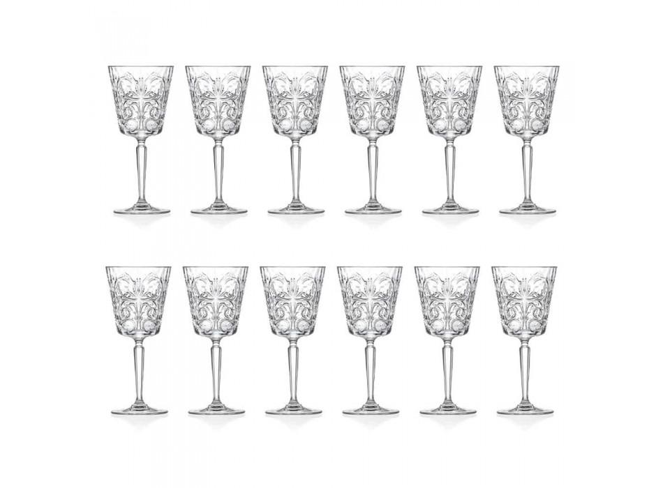 12 sklenic na vodu, nápoje nebo koktejl v dekorovaném Eco Crystal - Destino
