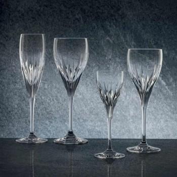 12 ručně zdobených sklenic na bílé víno v ekologickém luxusním křišťálu - Voglia