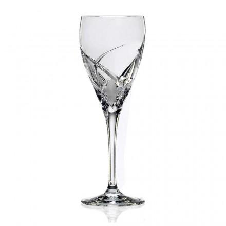 12 sklenic na bílé víno v luxusním ekologickém křišťálovém designu - Montecristo