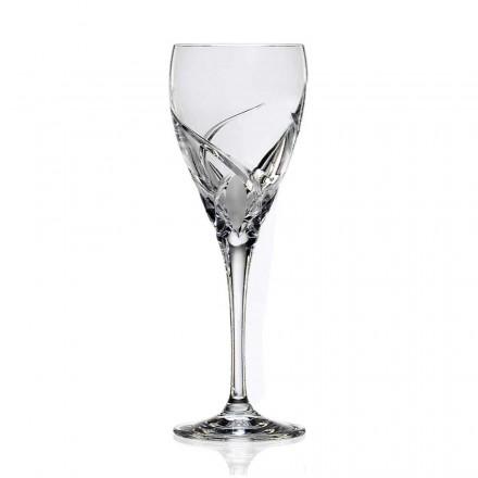 12 sklenic na červené víno v luxusním ekologickém křišťálovém designu - Montecristo