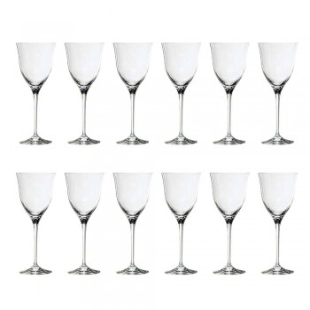 12 sklenic na červené víno v ekologickém křišťálovém luxusním minimálním designu - hladké