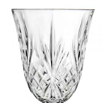 12 sklenic vína, vody, koktejlu v ekologickém stylu Crystal Vintage - Cantabile