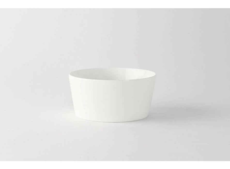 12 moderního designu bílá porcelánová zmrzlina nebo ovocné poháry - Egle
