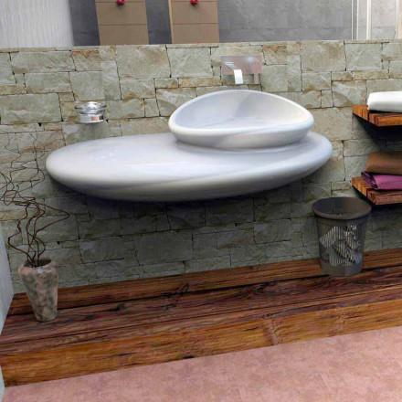 Závěsné umyvadlo s moderním designem Kámen vyrobený v Itálii