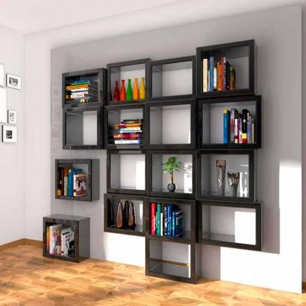 Design wall bookcase Fra011 Vyrobeno v Itálii