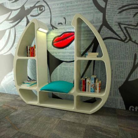 Moderní designová knihovna v Solid Surface Shelley vyrobená v Itálii