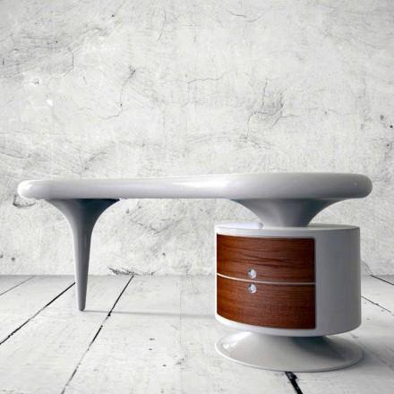 Moderní kancelářský stůl v bílé, červené nebo černé fazole