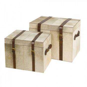 2 design v šedé pony Ritini kufry, malé i velké