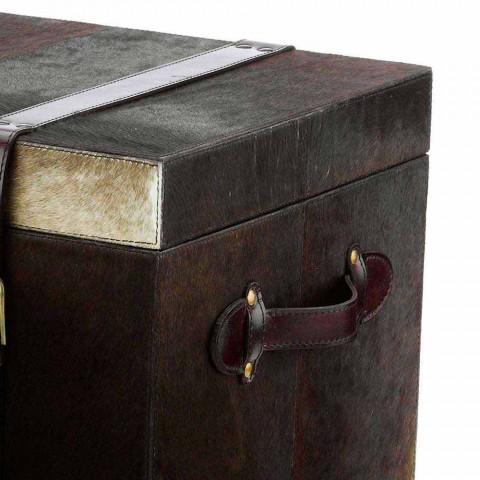2 designové kufry tmavě hnědé pony Ceskini, malé i velké