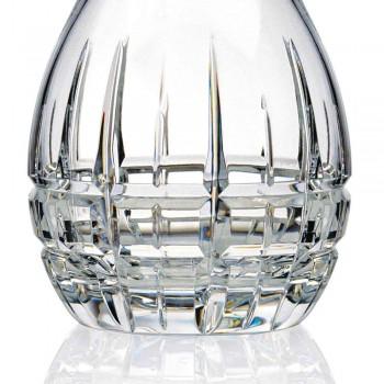 2 láhve s kulatým designovým uzávěrem na víno ve zdobeném krystalu - Fiucco