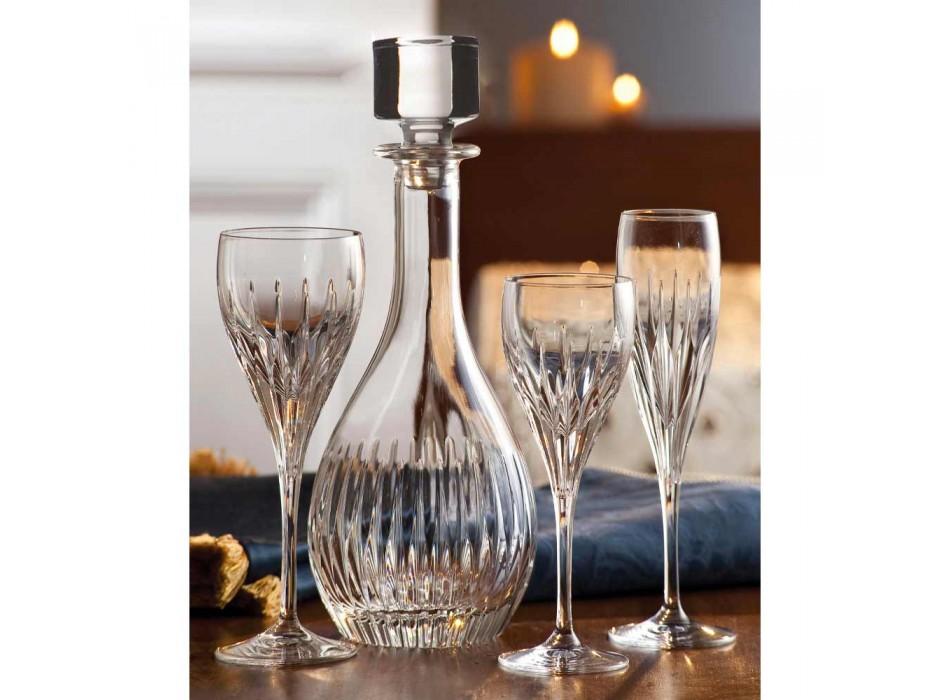 2 lahve na víno z ekologického křišťálu ručně mletého italského luxusu - touha