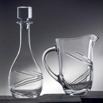 2 lahve na víno a luxusní ručně zdobené víko z ekologického křišťálu - cyklon