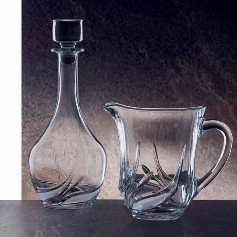 2 lahve na víno Eco Crystal s kulatým designovým víkem a dekoracemi - adventní