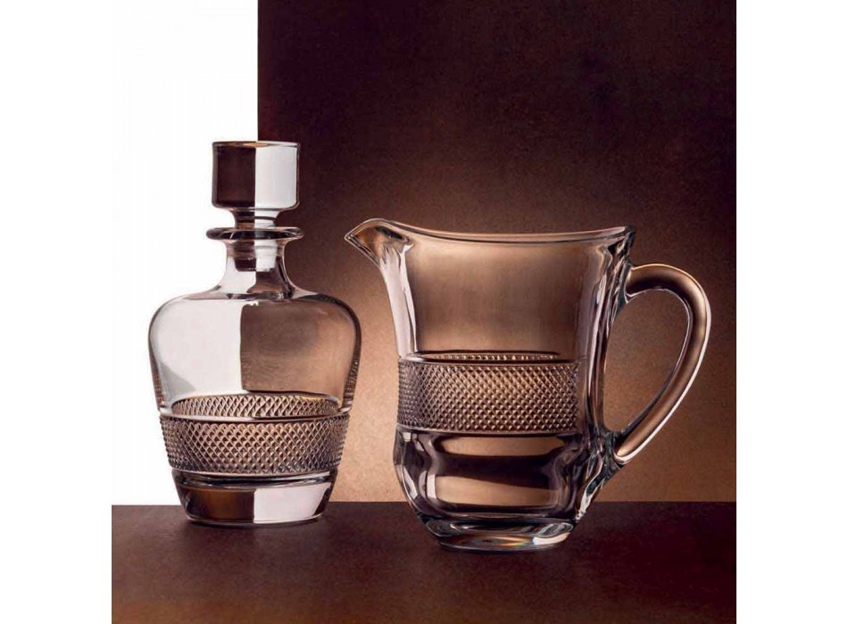 2 láhve whisky zdobené v ekologickém křišťálovém elegantním designu - Milito