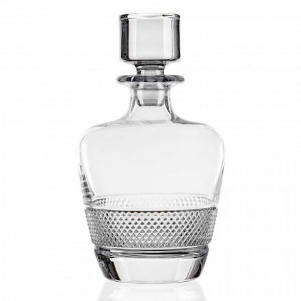 2 láhve whisky zdobené ekologickým křišťálem vyrobené v Itálii - Milito