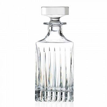 2 křišťálové láhve na whisky s ručním mletím vyrobené v Itálii - Voglia