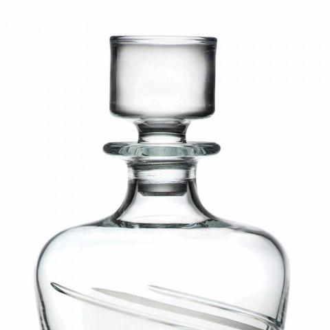 2 láhve whisky v italském řemeslném ekologickém křišťálu - cyklon