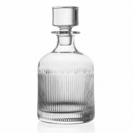 2 láhve na whisky s ekologickým křišťálovým víčkem Vintage Design - hmatové