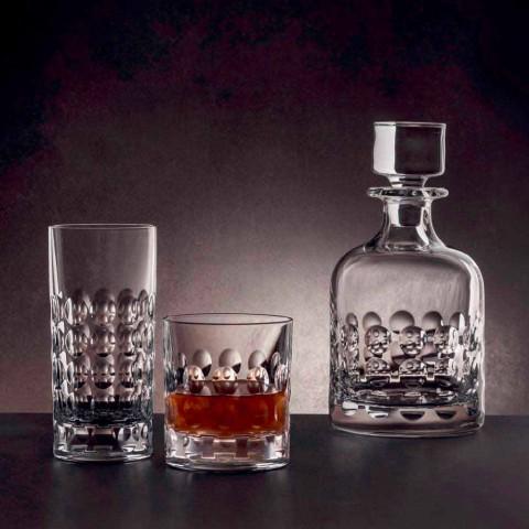 2 láhve na whisky z ekologického křišťálu zdobené víčkem - titanioball