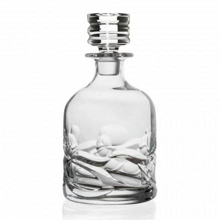 2 lahve na whisky zdobené křišťálem Eco s luxusním designovým víčkem - titan