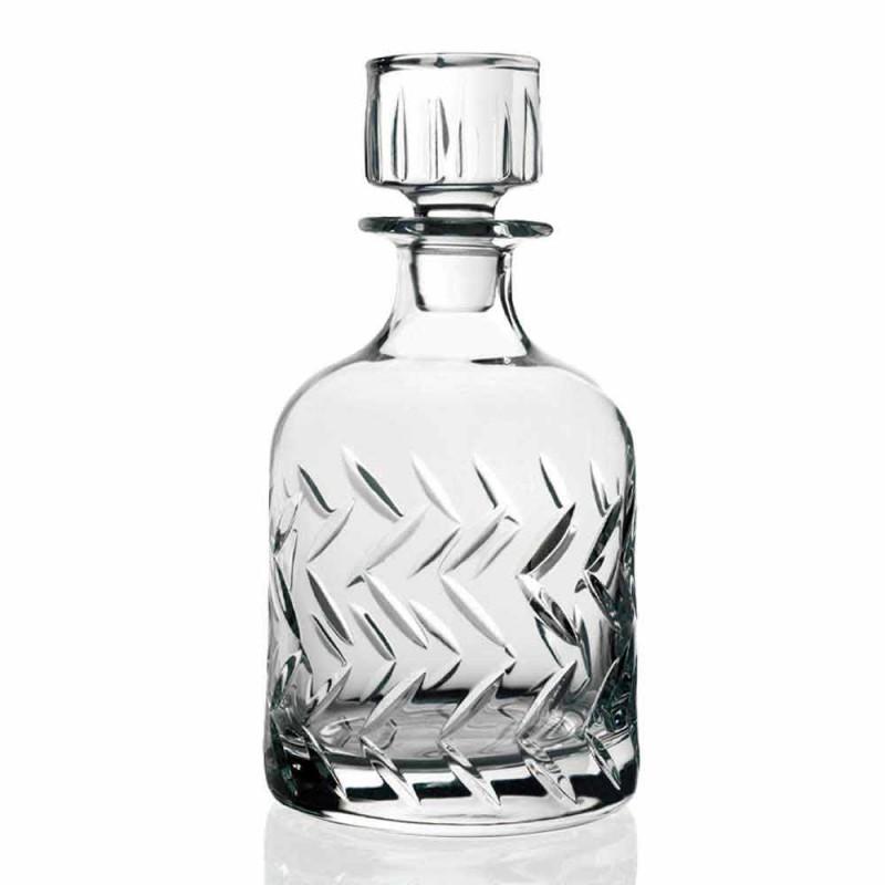 2 křišťálové láhve na whisky šetrné k životnímu prostředí s vintage dekorativní čepičkou - arytmie