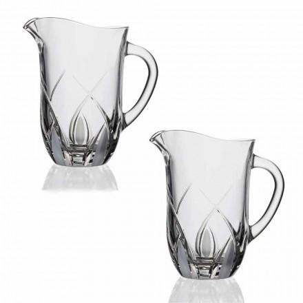 2 ekologické křišťálové džbány na vodu Luxusní ručně zdobený design - Montecristo