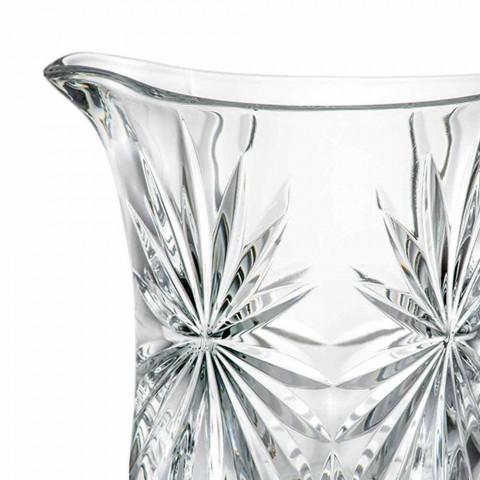 2 designové džbány na vodu se špičkovou dekorací zvukového skla Ultraclear - Daniele