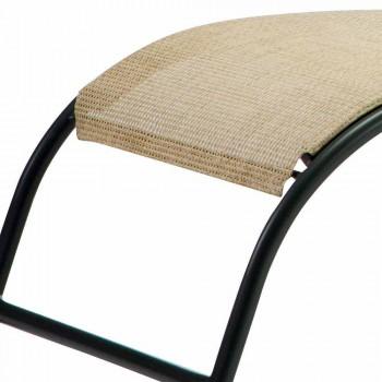 2 stohovatelné venkovní lehátka v kovu a tkanině vyrobené v Itálii - Perlo