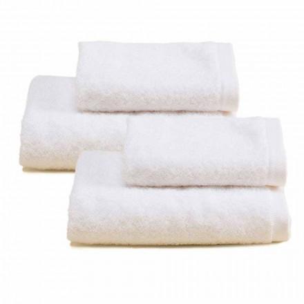 2 páry barevných bavlněných froté ručníků do koupelny - Vuitton