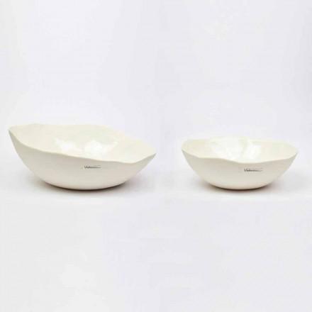 2 misky na salát v bílém porcelánu Unikátní kousky italského designu - Arciconcreto