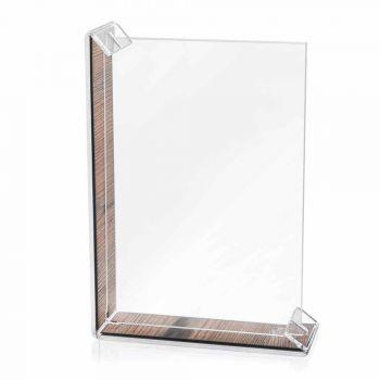 2 více stolní fotorámeček z barevného plexiskla nebo se dřevem - Menelao