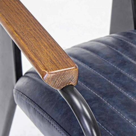 2 židle s područkami v provedení Leatherette Vintage Effect Homemotion - Clare